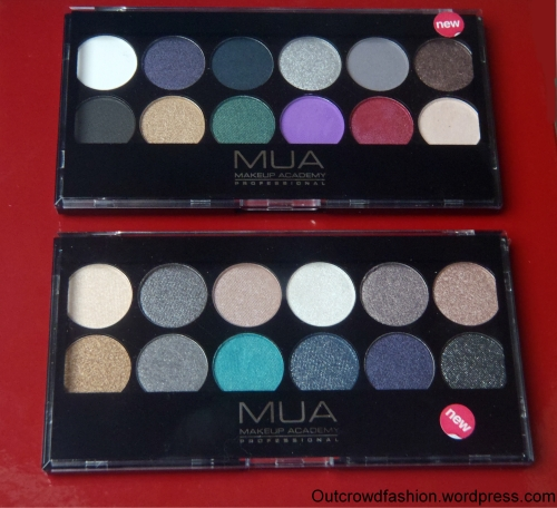 MUA eye pallettes