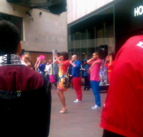 Flashmob fashion show